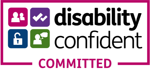 The Disability Confident Logo.